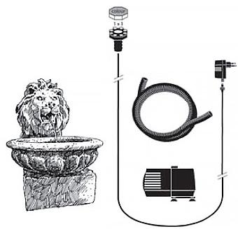 Fontaine de jardin et de terrasse BASEL Ubbink - Caractéristiques de la fontaine de jardin BASEL Ubbink
