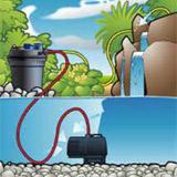 Filtre a pression BIO PRESSURE II 6000 Ubbink - Possibilité d'installation avec le filtre à pression BIO PRESSURE II 6000 Ubbink