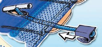 Couverture volet automatique piscine HIVERSCREEN Walter 200g/m² Sable - Couverture de protection volet automatique piscine HIVERSCREEN Walter 200g/m² Sable