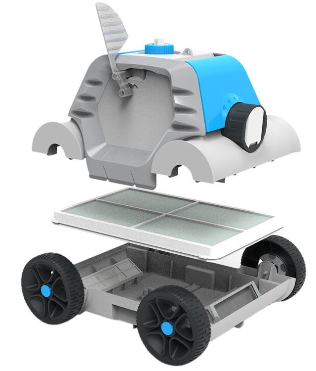 Robot piscine electrique sans fil THETYS Bestway - Robot piscine électrique sans fil THETYS Bestway