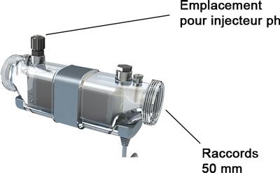 Cellule d'electrolyseur piscine X-CELL 160 CCEI - Cellule d'électrolyseur piscine X-CELL 160 CCEI