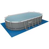 Kit piscine Bestway Power Steel Frame Pools ovale 549x274x122cm filtration cartouche - Caractéristiques techniques des piscines Bestway Power Steel Frame Pools ovale 549x274x122cm filtration cartouche