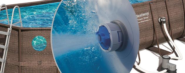 Kit piscine Bestway POWER STEEL SWIM VISTA POOL ovale 549x274x122cm aspect tresse avec hublots - Avantages des piscines Bestway POWER STEEL SWIM VISTA POOL ovale 549x274x122cm aspect tressé