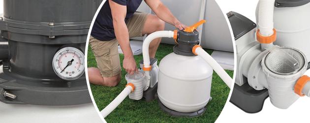 Groupe de filtration programmable piscine Bestway FLOWCLEAR 6m³/h vanne 6 voies - Groupe de filtration piscine Bestway FLOWCLEAR 6m³/h vanne 6 voies