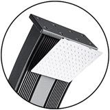 Douche solaire Formidra DADA CURVE avec mitigeur 38L Anthracite/Alu - Avantages de la douche solaire Formidra DADA CURVE Anthracite / Alu