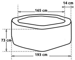 Spa NetSpa OCTOPUS 6 places aspect tresse avec mobilier - Dimensions du spa NetSpa OCTOPUS PREMIUM