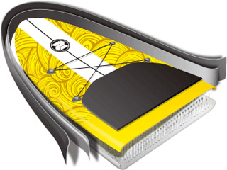 Paddle gonflable Zray X-Rider 9' - Paddle gonflable Zray X-Rider 9' Une technologie de qualité