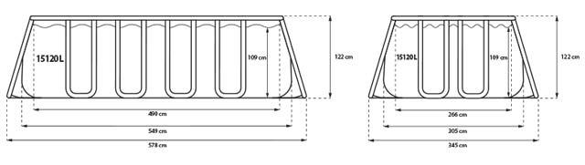 Piscine autoportante Jilong MISTRAL rectangulaire 549x305x122cm filtration cartouche - Caractéristiques de la piscine hors-sol autoportante Jilong MISTRAL filtration cartouche