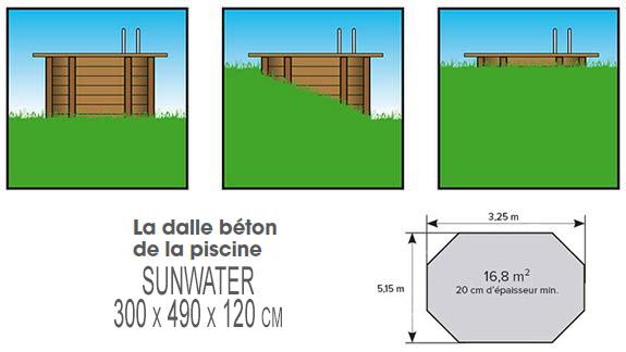 Piscine bois Nortland Ubbink SUNWATER octogonale 300x490x120cm liner bleu - Avantages des piscines bois Nortland Ubbink SUNWATER octogonale allongée