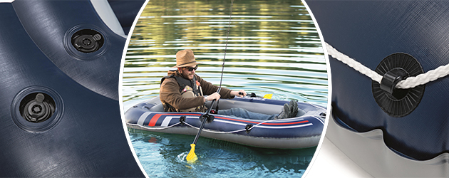 Bateau gonflable Bestway LIGNE X1 228x121x32cm 2 places - Bateau gonflable LIGNE X1 Bestway Pour des heures d'amusement et de joie