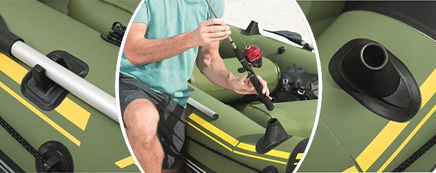 Canot gonflable Bestway MARINE PRO 291x127x46cm 2 adultes 1 enfant - Canot gonflable MARINE PRO Bestway Pour des heures d'amusement et de joie