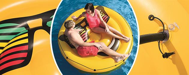 Bouee gonflable piscine Bestway LOUNGE Fashion Smiley Ø188cm - Bouée gonflable Bestway Pour des heures de détente au gré de l'eau