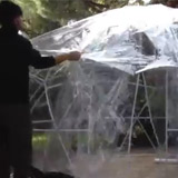Dome de protection piscine et spa SUNNY IGLOO 360x220cm - Dimensions et montage de l'abri piscine et spa SUNNY IGLOO