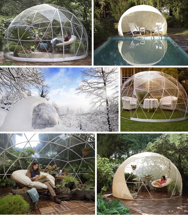 Dome de protection piscine et spa SUNNY IGLOO 360x220cm - Galerie images de l'abri piscine et spa SUNNY IGLOO