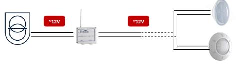 Module radio Seamaid + telecommande 2 boutons 12V/120W projecteur piscine - Branchements et installation du module de commande radio Seamaid pour projecteur