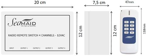 Module radio Seamaid + telecommande 8 boutons 12V/240W projecteur piscine - Caractéristiques du module de commande radio Seamaid pour projecteur