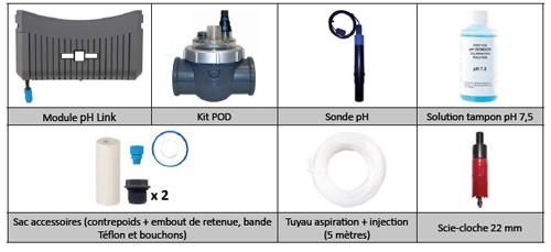 Module Ph link pour electrolyseur piscine au sel Zodiac GenSalt OT - Caractéristiques du module Ph link pour électrolyseur piscine au sel Zodiac GenSalt OT