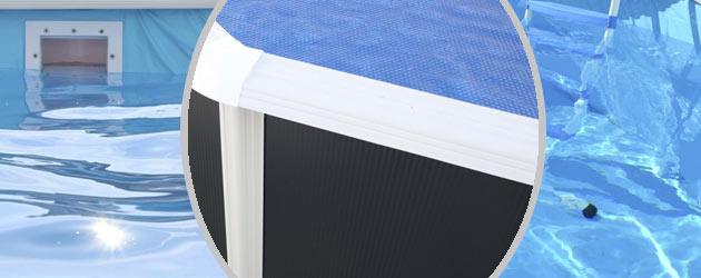 Kit piscine hors-sol acier Toi ANTHRACITE IBIZA COMPACT ovale 640X366X132cm filtre a sable - Kit piscine complet Toi IBIZA COMPACT