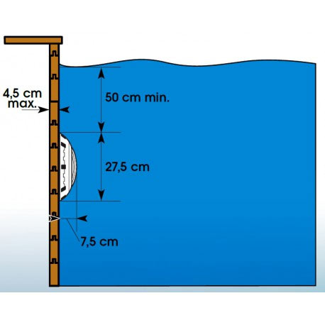 Projecteur piscine bois Ubbink LED 350 blanc - Spot piscine bois Ubbink LED 350 blanc