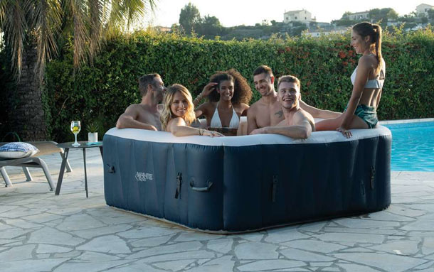 Spa gonflable Ubbink INFINITE SPA CHAMPION 6 places 185x185x65cm 910l - Spa gonflable Ubbink INFINITE SPA CHAMPION 6 places Détente et relaxation au programme