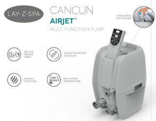 Spa gonflable Bestway LAY-Z-SPA CANCUN 2021 AirJet Ø180x66cm 2/4 places - Spa gonflable Bestway LAY-Z-SPA CANCUN Détente et relaxation au programme
