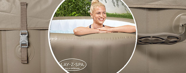 Spa gonflable Bestway LAY-Z-SPA PALM SPRINGS 2021 AirJet Ø196x71cm 4/6 places - Spa gonflable Bestway LAY-Z-SPA PALM SPRINGS Détente et relaxation au programme