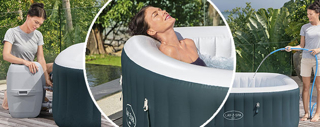 Spa gonflable Bestway LAY-Z-SPA IBIZA 2021 AirJet 180x180x66cm 4/6 places - Spa gonflable Bestway LAY-Z-SPA IBIZA Détente et relaxation au programme