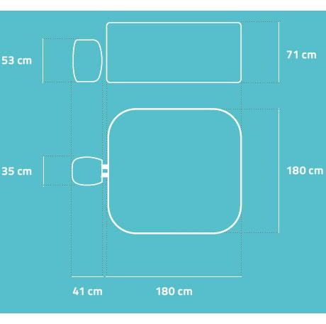 Spa gonflable Bestway LAY-Z-SPA HAWAII 2021 AirJet 180x180x71cm 4/6 places - Avantages et caractéristiques du spa gonflable Bestway LAY-Z-SPA HAWAII