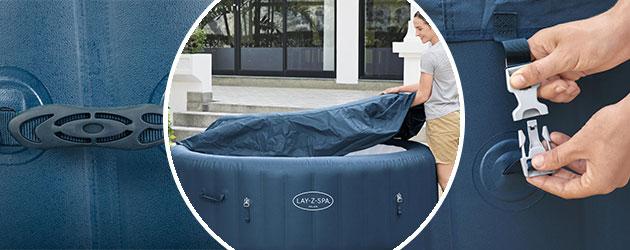 Spa gonflable Bestway LAY-Z-SPA MILAN 2021 AirJet Plus Ø196x71cm 4/6 places - Spa gonflable Bestway LAY-Z-SPA MILAN Détente et relaxation au programme