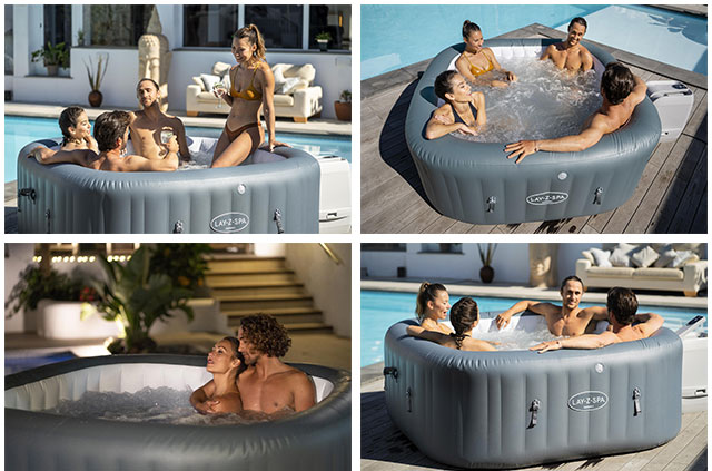 Spa gonflable Bestway LAY-Z-SPA HAWAII 2021 Hydrojet Pro 180x180x71cm 4/6 places - Spa gonflable Bestway LAY-Z-SPA HAWAII Hydrojet Pro Détente et relaxation au programme