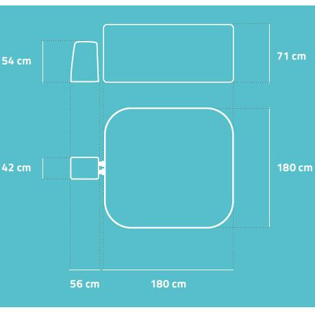 Spa gonflable Bestway LAY-Z-SPA MALDIVES 2021 Hydrojet Pro 201x201x80cm 5/7 places - Avantages et caractéristiques du spa gonflable Bestway LAY-Z-SPA MALDIVES Hydrojet Pro