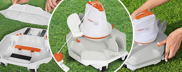 Robot piscine sans fil autonome AQUAGLIDE Bestway - Robot piscine sans fil AQUAGLIDE Bestway  Technologie novatrice 2021