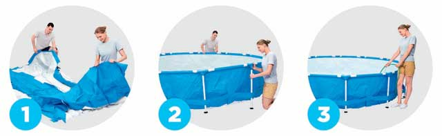 Kit piscine Bestway STEEL PRO FRAME POOL ronde Ø396x 76cm filtration cartouche - Avantages des piscines Bestway STEEL PRO FRAME POOL