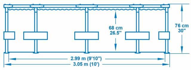 Kit piscine Bestway STEEL PRO MAX ronde Ø305x 76cm - Caractéristiques techniques Bestway STEEL PRO MAX