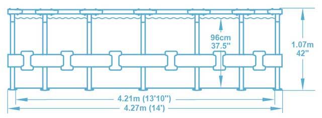 Kit piscine Bestway STEEL PRO MAX ronde Ø427x107cm filtration cartouche - Caractéristiques techniques Bestway STEEL PRO MAX