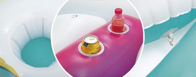 Bouee geante gonflable piscine Bestway LICORNE 590x404cm 6 personnes - Bouée gonflable Bestway Pour des heures de détente et de calme
