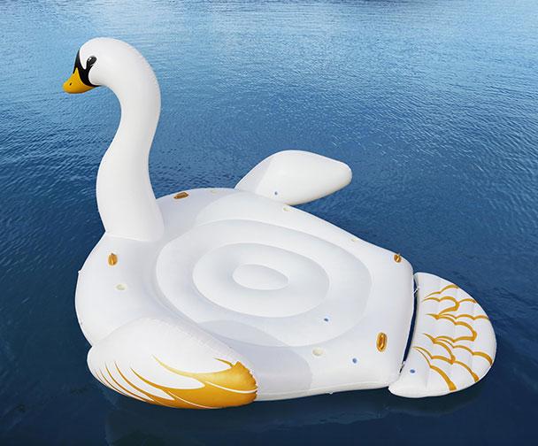 Bouee geante gonflable piscine Bestway CYGNE 429x330cm 6 personnes - Bouée gonflable Bestway Pour des heures de détente et de calme
