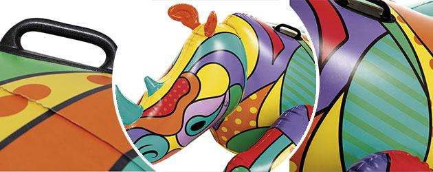 Bouee XXL gonflable piscine Bestway POP RHINO 201x102cm 1 place - Bouée fauteuil gonflable Bestway Pour des heures de détente et de calme