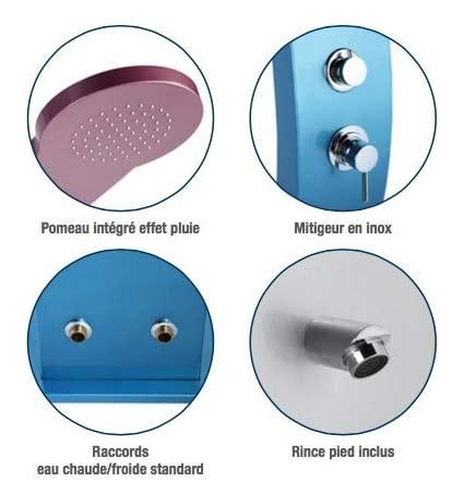 Douche d'exterieur aluminium Formidra BELLAGIO 37L coloris Gris - Avantages de la douche d'extérieur Formidra BELLAGIO