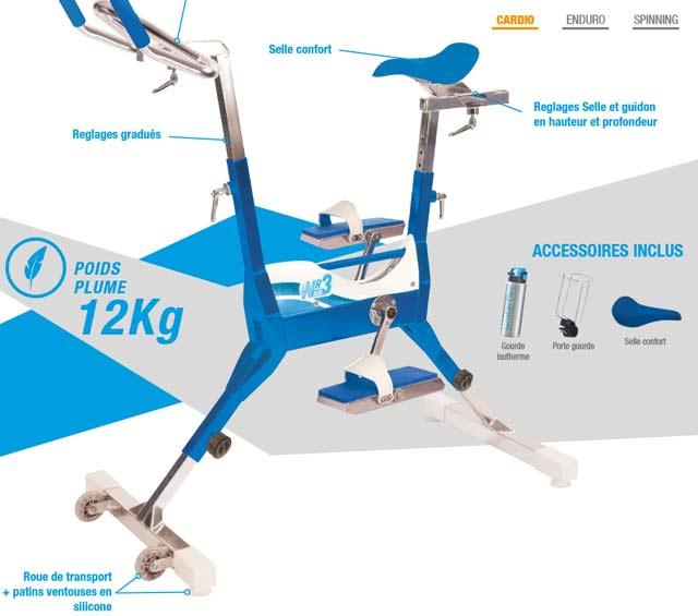 Aquabike Waterflex WR3 Air velo de piscine - Waterflex WR3 Air pour une remise en forme en douceur