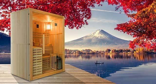 Sauna vapeur cabine 3 places France Sauna SENSE 3 - Sauna vapeur 3 places France Sauna SENSE 3, authenticité et technologie