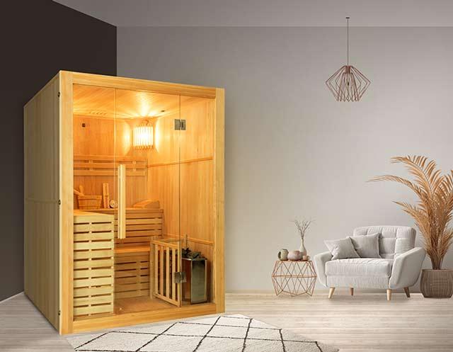 Sauna vapeur cabine 3 places France Sauna SENSE 3 - Sauna vapeur 3 personnes SENSE 3 France Sauna, caractère et robustesse