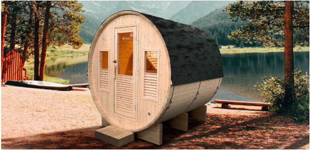 Sauna a vapeur d'exterieur GAIA OMEGA 6 places - Avantages du sauna à vapeur d'extérieur GAIA OMEGA