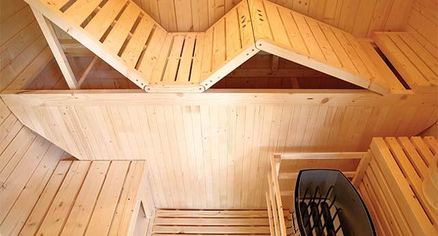 Sauna a vapeur d'exterieur GAIA BELLA 3 places - Technologies et équipements du sauna à vapeur d'extérieur GAIA BELLA de Holl's