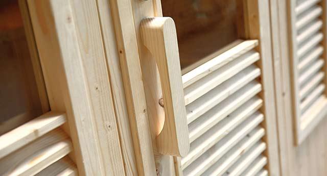 Sauna a vapeur d'exterieur GAIA NOVA 6 places - Technologies et équipements du sauna à vapeur d'extérieur GAIA NOVA