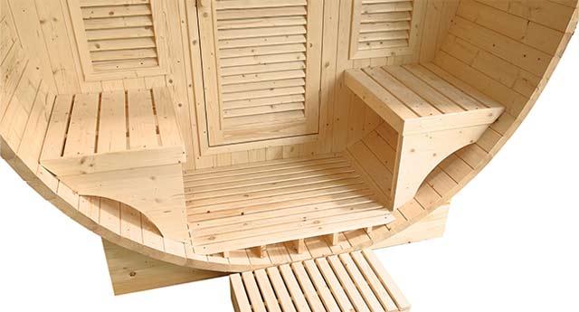 Sauna a vapeur d'exterieur GAIA LUNA 6 places - Avantages du sauna à vapeur d'extérieur GAIA LUNA