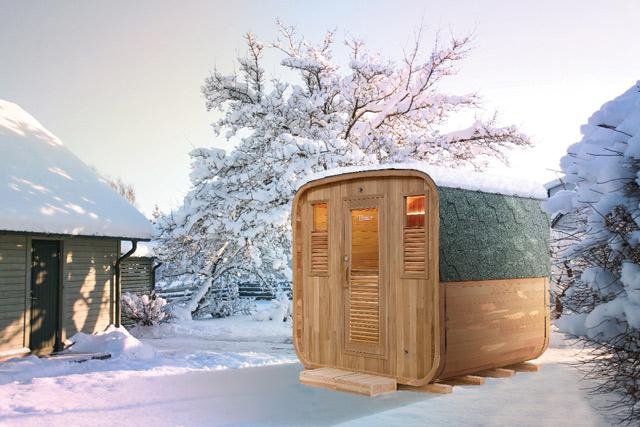 Sauna a vapeur d'exterieur GAIA NOVA 6 places - Avantages du sauna à vapeur d'extérieur GAIA NOVA