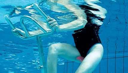 Bassin Waterflex Fit's Pool avec velo aquatique Happy Bike Orange - Aquabike Happy Bike orange livré avec le bassin Fit's Pool