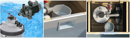 Piscine bois hors-sol BWT POOL'N BOX JUNIOR 374x247x76cm - Piscine POOL'N BOX JUNIOR  Astucieuse et complète