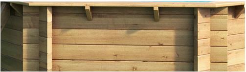 Piscine bois hors-sol BWT POOL'N BOX JUNIOR 374x247x76cm - Avantages de la piscine rectangulaire en bois BWT POOL'N BOX JUNIOR